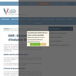 DUER : Document Unique d'Evaluation des Risques