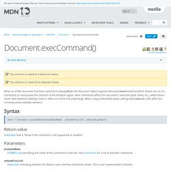 Document.execCommand() - Web APIs