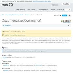 Document.execCommand() - Web APIs