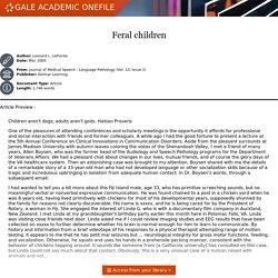 - Document - Feral children
