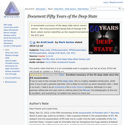Document:Fifty Years of the Deep State - Wikispooks