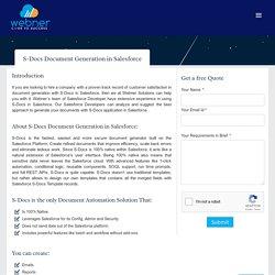 S-Docs Document Generation in Salesforce