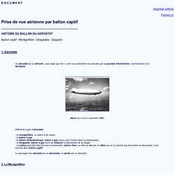 Document - HISTOIRE DES BALLONS ET AEROSTATS