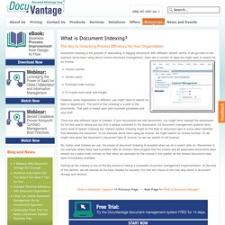 What is Document Indexing and How Does it Improve Process Efficiency?