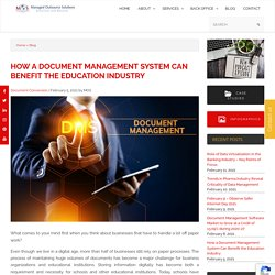How a Document Management System Can Benefit the Education Industry
