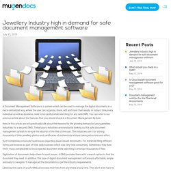 Document Management System for Jewelry Industry – Mugen Docs
