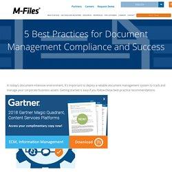 Document Management Strategy & Best Practices