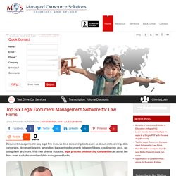 Top Six Legal Document Management Software for Law Firms