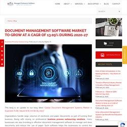 Document Management Software Market 2027 Analysis