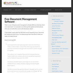 Free Document Management Software