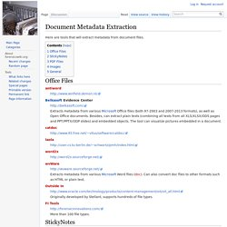 Document Metadata Extraction - ForensicsWiki