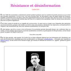 Résistance et désinformation