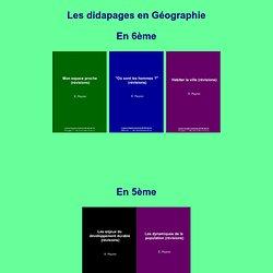 Livres Didapages Géographie Collège