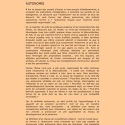 Définition de l'autonomie par P. Meirieu