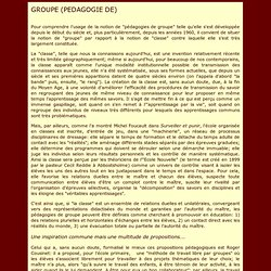 Pédagogie de groupe (Meirieu)