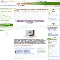 Atelier utiliser des outils d'écriture collaborative- Usages du numérique éducatif