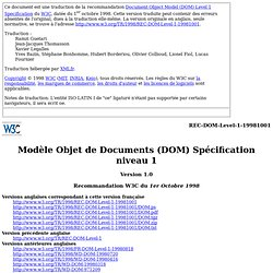Document Object Model (DOM) Level 1 Specification