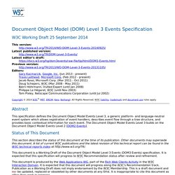 Document Object Model (DOM) Level 3 Events Specification