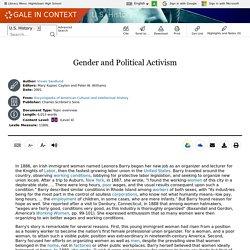 U.S. History - Document - Gender and Political Activism