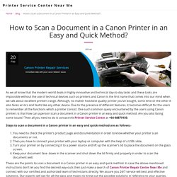 How to Scan a Document in a Canon Printer in an Easy and Quick Method? - Printer Service Center Near Me