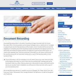 Document Recording - Countrywide Process