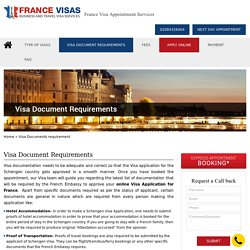 Read about the france visa document requirenments for UK