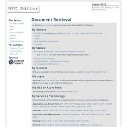 Document Retrieval » RFC Editor