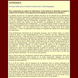 L'alternance selon P. Meirieu