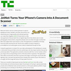 JotNot Turns Your iPhone's Camera Into A Document Scanner