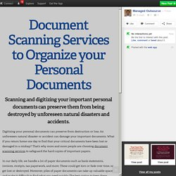 Document Scanning Services to Organize your Personal Documents