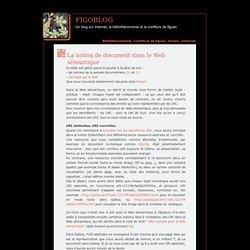 La notion de document dans le Web sémantique