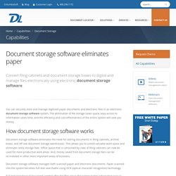 Document Storage Software