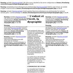 L'enfant et la dysgraphie