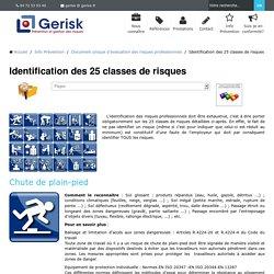 Document Unique - les classes de risque