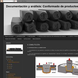 Documentación y análisis: Conformado de productos sin arranque de viruta: 6. EMBUTICIÓN