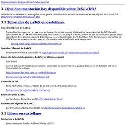 FAQ de CervanTeX: ¿Qué documentación hay disponible sobre TeX/LaTeX?