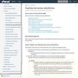 Cuentas de correo electrónico - Documentación 11.44 - cPanel Documentation