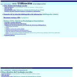 Citas bibliográficas textuales y referencias bibliográficas