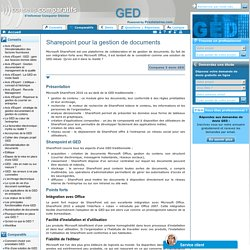 sharepoint gestion documentaire - plateforme collaborative - logiciel ged