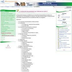 La recherche documentaire sur Internet au cycle 3- Pédagogie - Direction des services départementaux de l'éducation nationale du 17