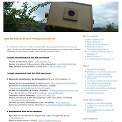 Liste des festivals de court-métrage documentaire - formations cinéma documentaire à Lussas
