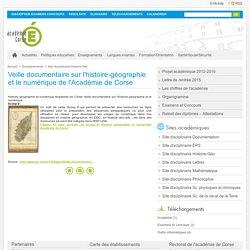 Veille documentaire sur l'histoire-géographie et le numérique de l'Académie de Corse
