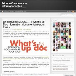 Un nouveau MOOC… «What's up Doc : formation documentaire pour tous