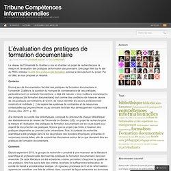 L'évaluation des pratiques de formation documentaire