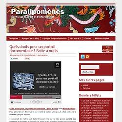 Quels droits pour un portail documentaire ? Boîte à outils