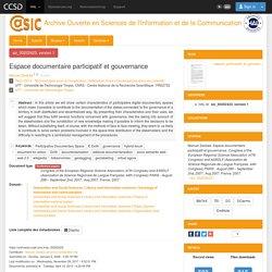 Espace documentaire participatif et gouvernance