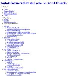 CDI - Lycée Le Grand Chênois - Résultats de recherche