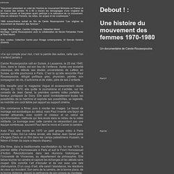 Femmes Debout un documentaire de Carole Roussopoulos