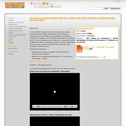 Recherche documentaire en ligne sur des thèmes scientifiques au collège - FICTUP