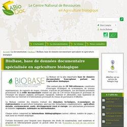 BioBase, base de données documentaire spécialisée en agriculture biologique
